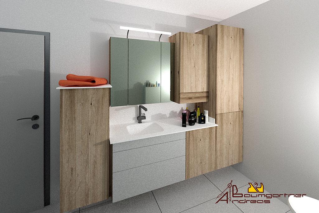 Badezimmer Mit badezimmer mit spiegelschrank tischlerei baumgartner vorchdorf