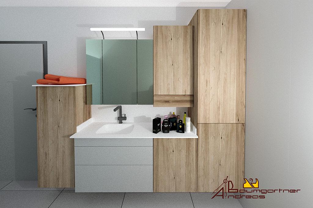 Badezimmer Mit Spiegelschrank Tischlerei Baumgartner Vorchdorf