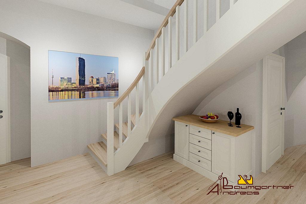 Tischlerei baumgartner vorchdorf for Garderobe treppe